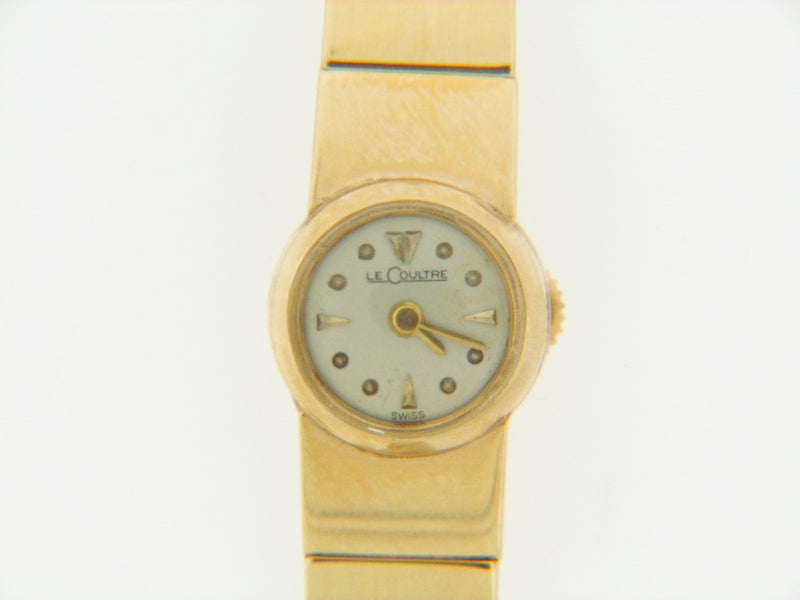 "14K YELLOW GOLD ""LE COULTRE"" WATCH 
