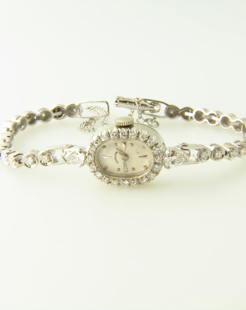 14K White Gold, Diamond Wristwatch | 18 Karat Appraisers | Beverly Hills, CA | Fine Jewelry