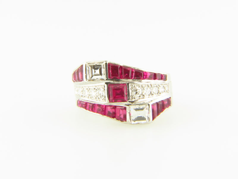 14K White Gold, Ruby and Diamond Ring | 18 Karat Appraisers | Beverly Hills, CA | Fine Jewelry