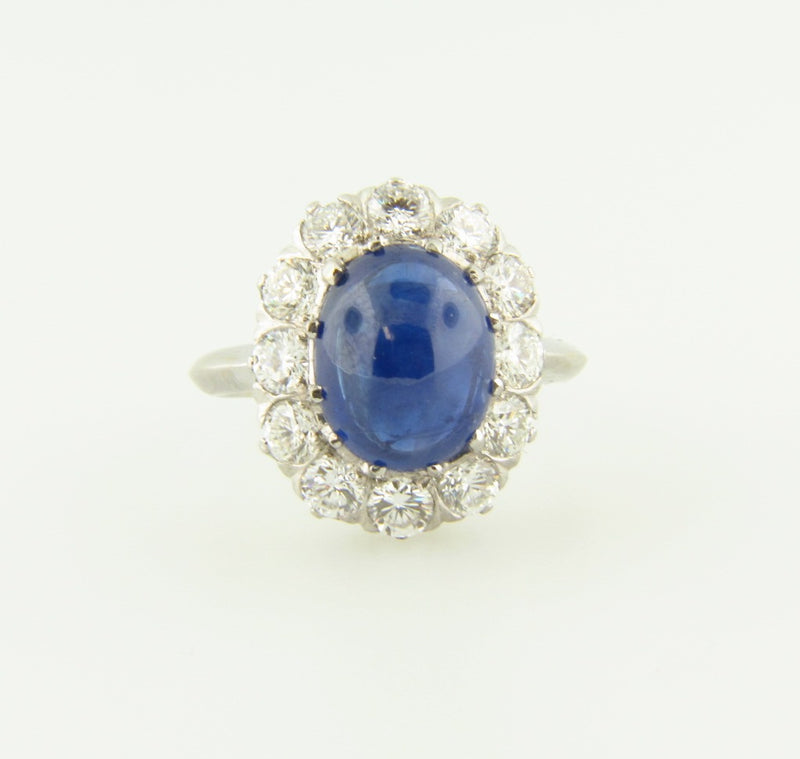 Platinum and 18K White Gold, Sapphire and Diamond Ring | 18 Karat Appraisers | Beverly Hills, CA | Fine Jewelry