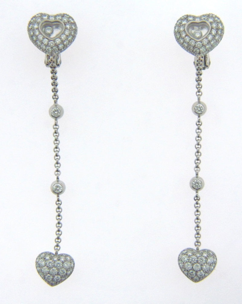 18K-WG Diamond Dangling Earrings by