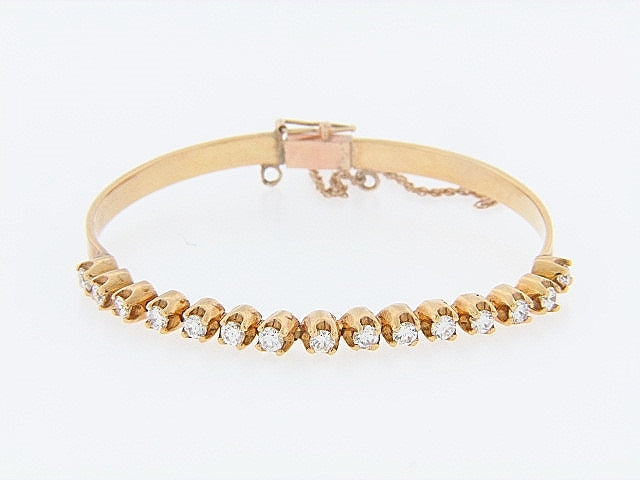 14K-YG DIAMOND BRACELET