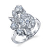 14K White Gold, Diamond Cluster Ring | 18 Karat Appraisers | Beverly Hills, CA | Fine Jewelry