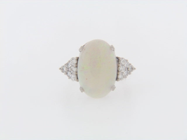 14K-WG OPAL AND DIAMOND RING | 18 Karat Appraisers | Beverly Hills, CA | Fine Jewelry