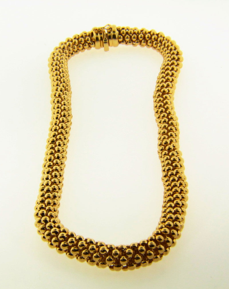 14K Yellow Gold, Beaded Necklace | 18 Karat Appraisers | Beverly Hills, CA | Fine Jewelry