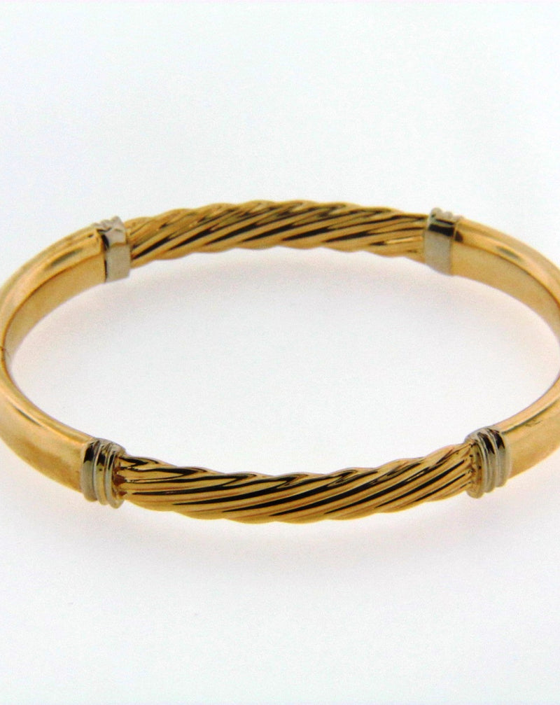 14K Yellow Gold Bangle Bracelet | 18 Karat Appraisers | Beverly Hills, CA | Fine Jewelry