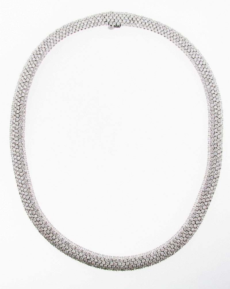 18K White Gold Diamond Necklace by