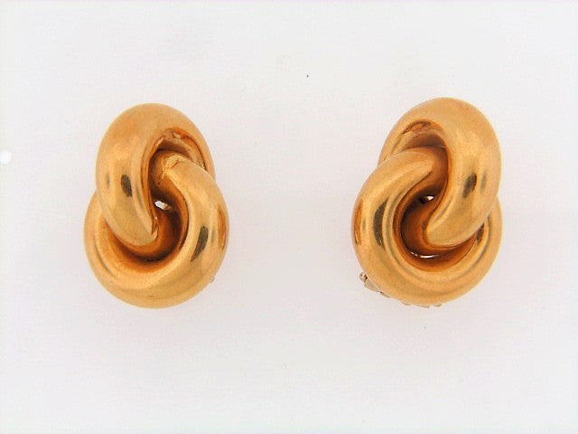 18K-YG INTERLOCKING EARRINGS