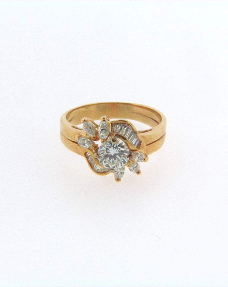 18K-YG DIAMOND COCKTAIL RING | 18 Karat Appraisers | Beverly Hills, CA | Fine Jewelry
