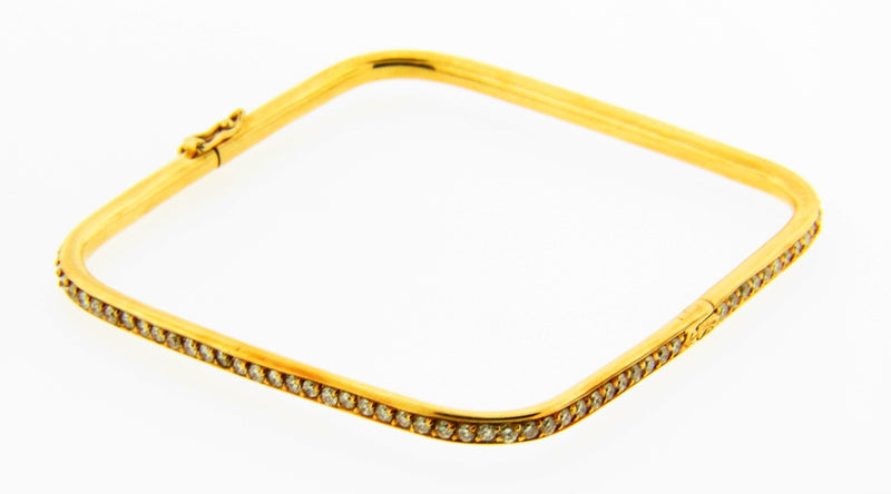 18K Yellow Gold, Diamond Bracelet | 18 Karat Appraisers | Beverly Hills, CA | Fine Jewelry