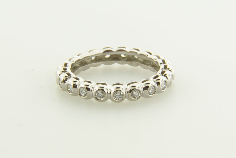18K White Gold, Diamond Eternity Band | 18 Karat Appraisers | Beverly Hills, CA | Fine Jewelry