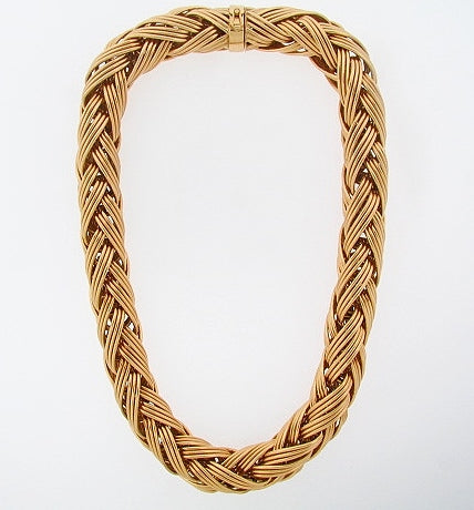 18K-YG WOVEN LINK NECKLACE