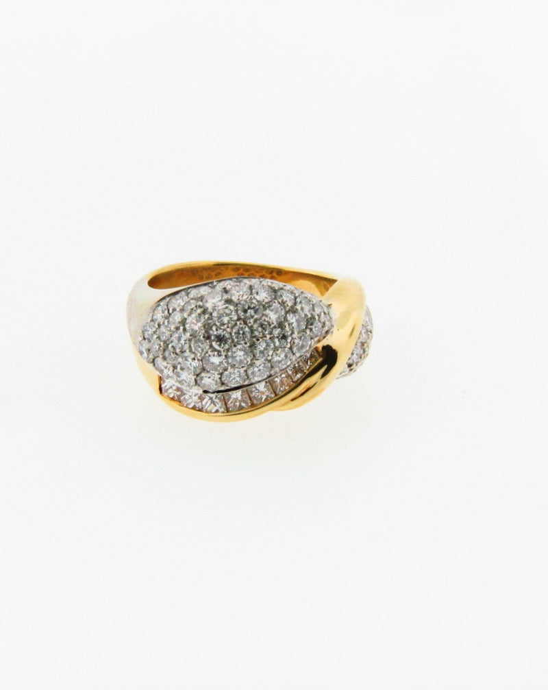 18K Yellow Gold Diamond ring | 18 Karat Appraisers | Beverly Hills, CA | Fine Jewelry