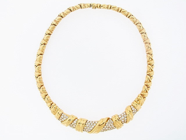 "18K-YG DIAMOND COLLAR NECKLACE BY ""JOSE HESS"""
