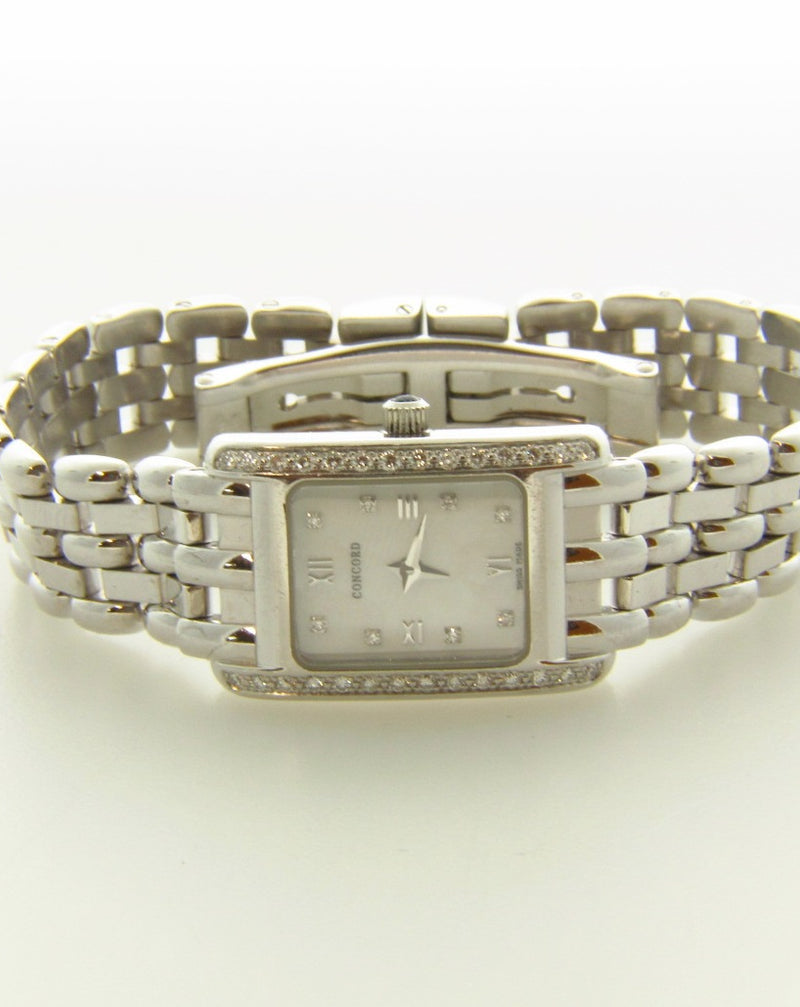 18K White Gold, Wristwatch by Concord | 18 Karat Appraisers | Beverly Hills, CA | Fine Jewelry
