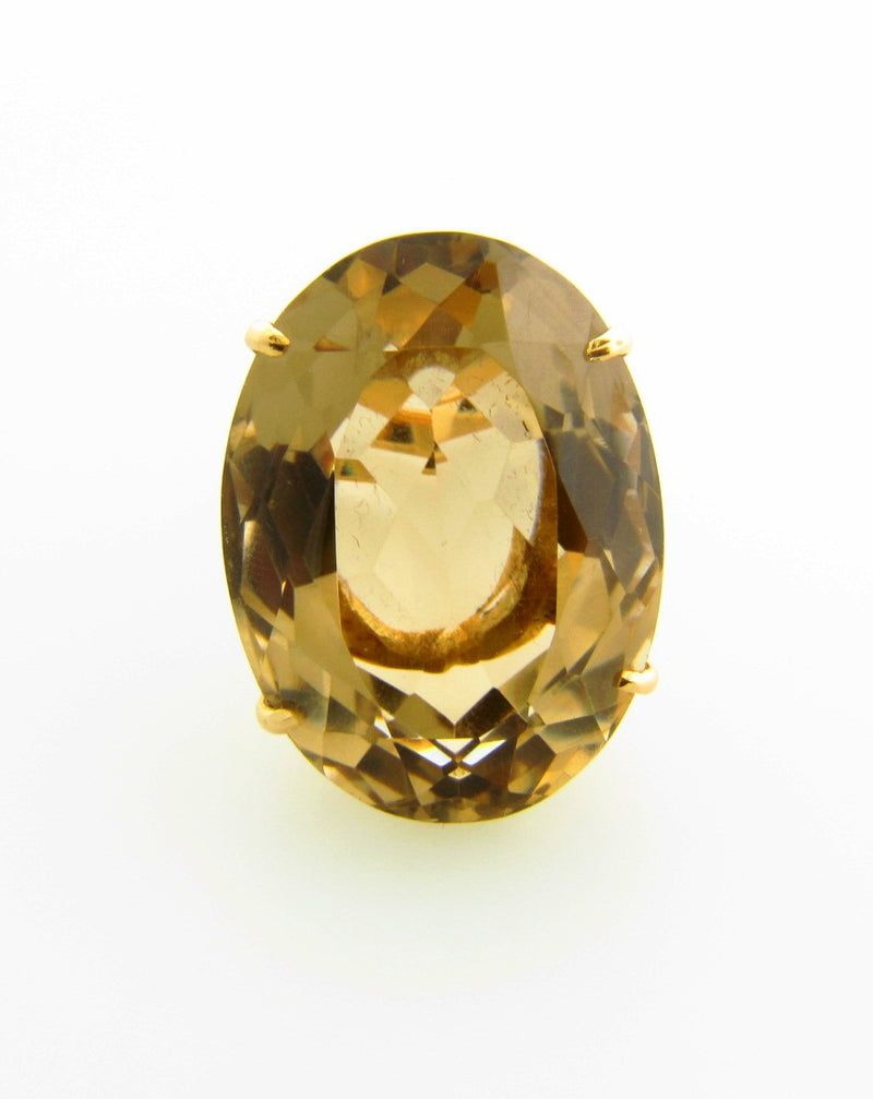 18K Yellow Gold, Citrine Ring | 18 Karat Appraisers | Beverly Hills, CA | Fine Jewelry