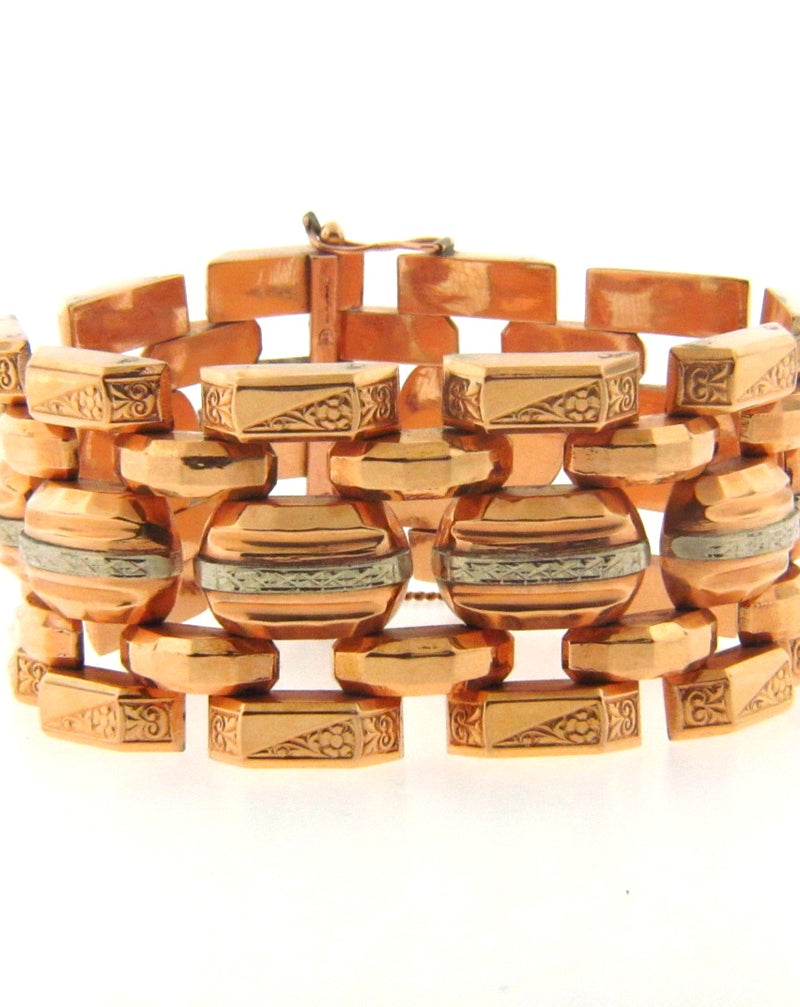 Retro, 18K Bi-Color Gold Bracelet | 18 Karat Appraisers | Beverly Hills, CA | Fine Jewelry
