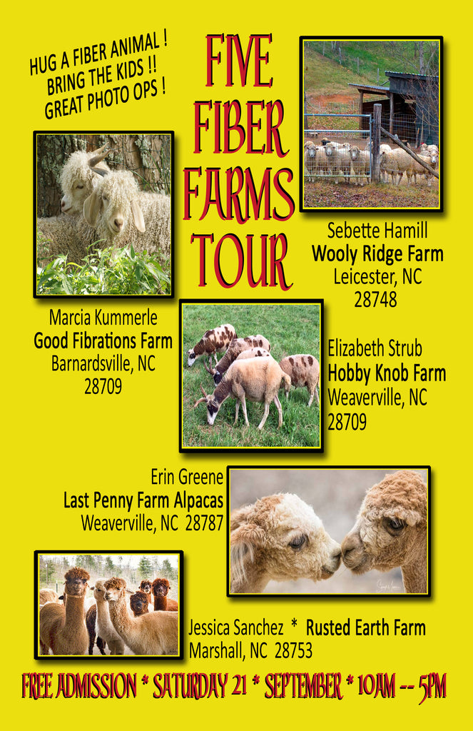 Fab Five Fiber Farm Tour: Annually in September !