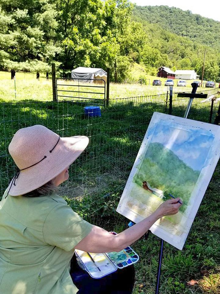 Local Plein Aire Painters on the Farm: Post-Covid Date TBA !
