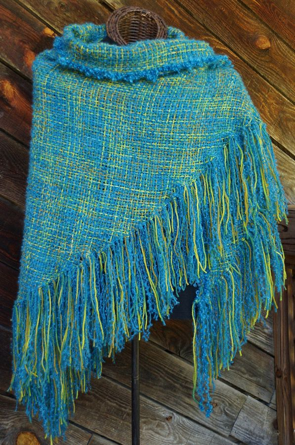 Underwater Sunlight HandWoven Shawl