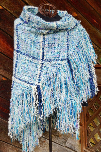 Caribbean Sea HandWoven Shawl -- available !