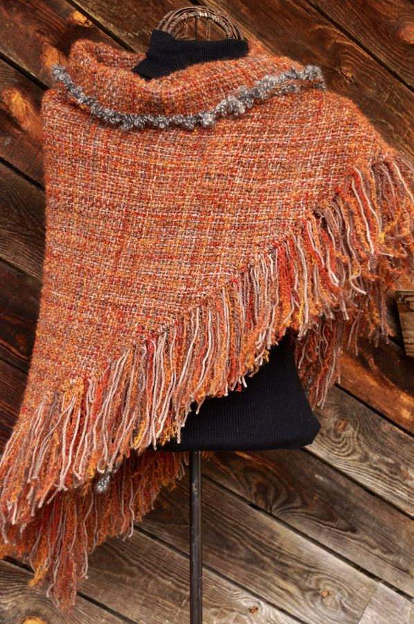 Fallen Leaves HandWoven Shawl