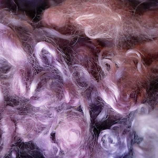 Peach 'n Lavender Mohair Locks