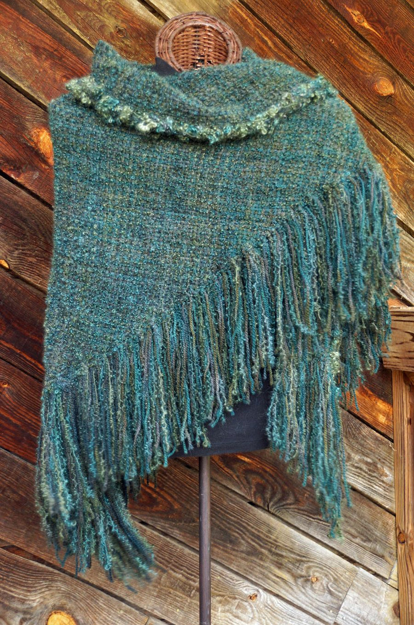 Deep Forest HandWoven Shawl