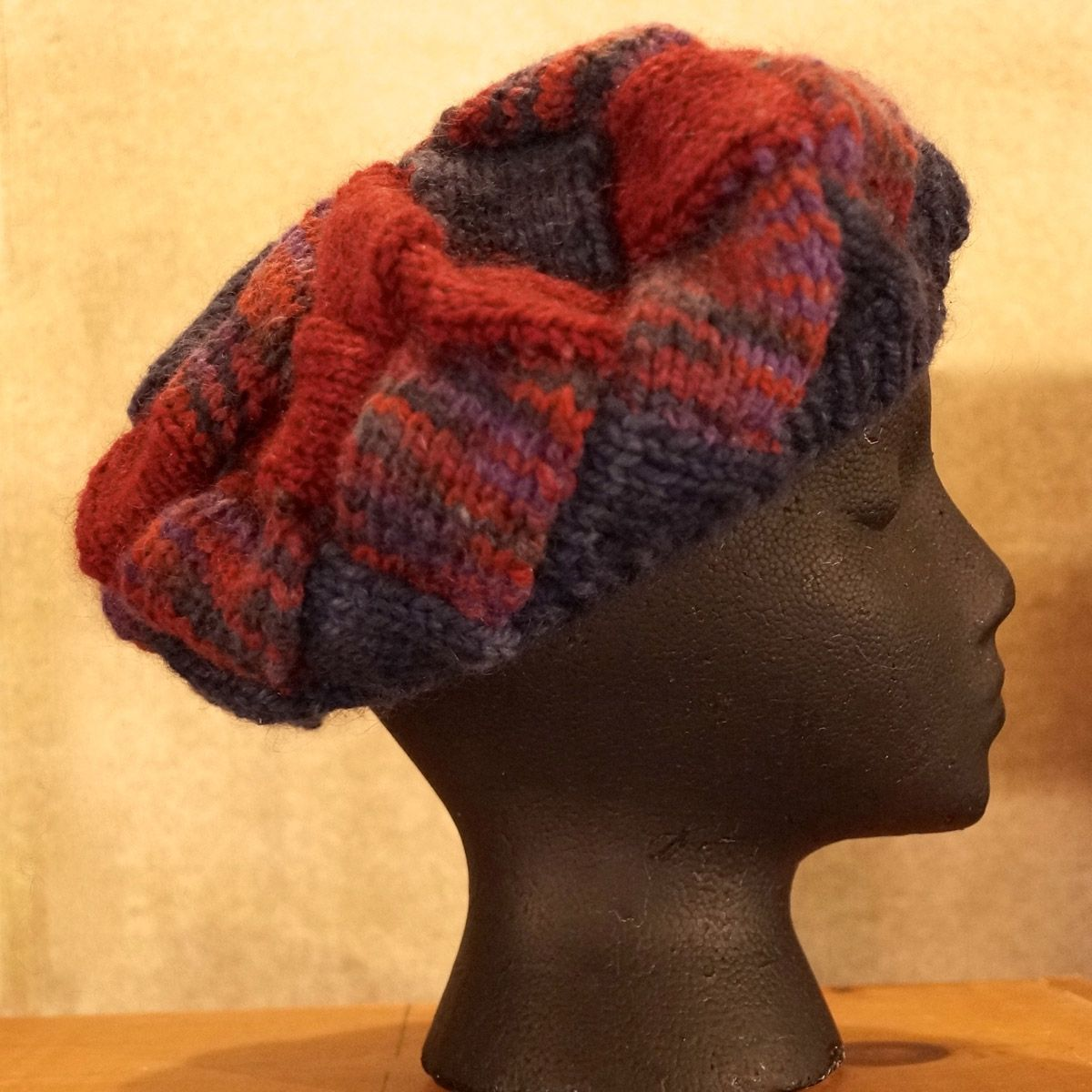 Reds & Navy Interlock Knit Hat