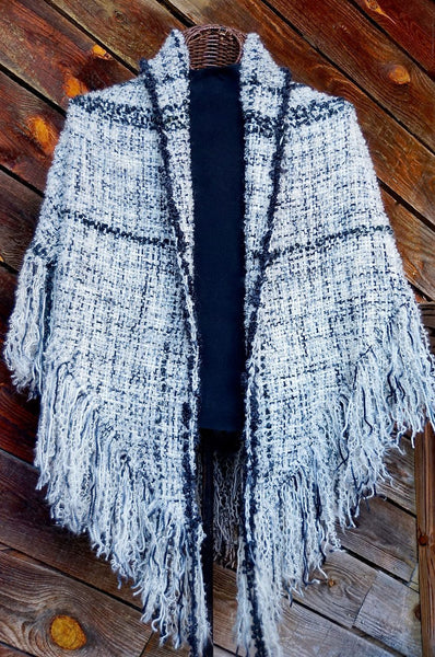 Yin 'n Yang HandWoven Shawl -- in stock !