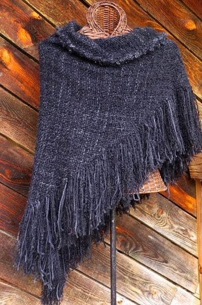 Asheville After Dark HandWoven Shawl