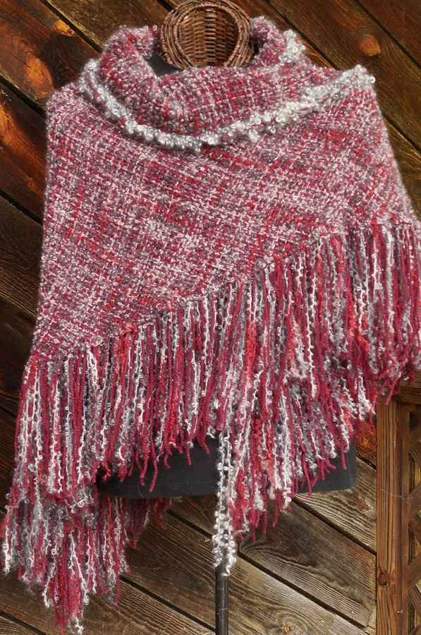 Smokin' Hot HandWoven Shawl