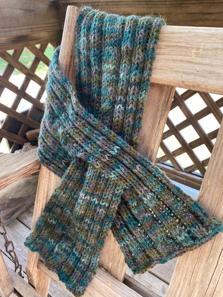 "Hand Knit ""Deep Forest"" Neck Wrap"