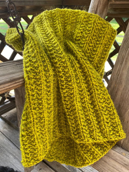 "Hand Knit ""Black Gold"" Cowl"