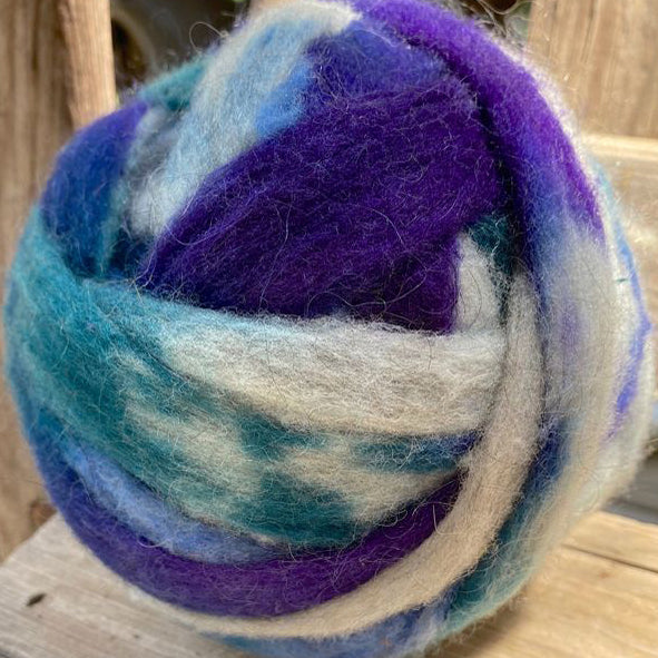 Jacob's Purple & Teal Roving