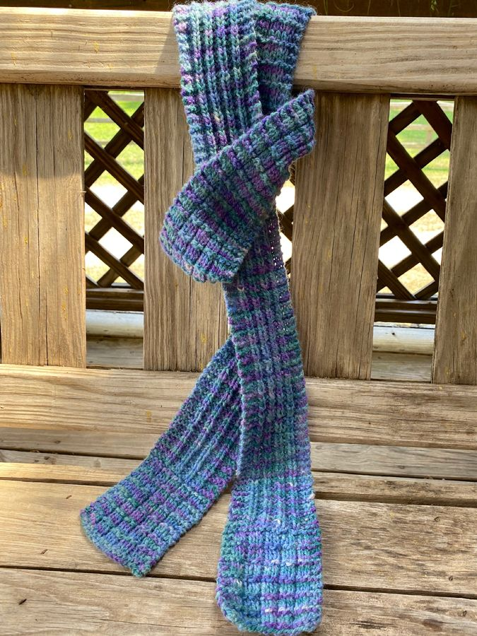 "Hand Knit ""Dilly Dilly"" Skinny Scarf"