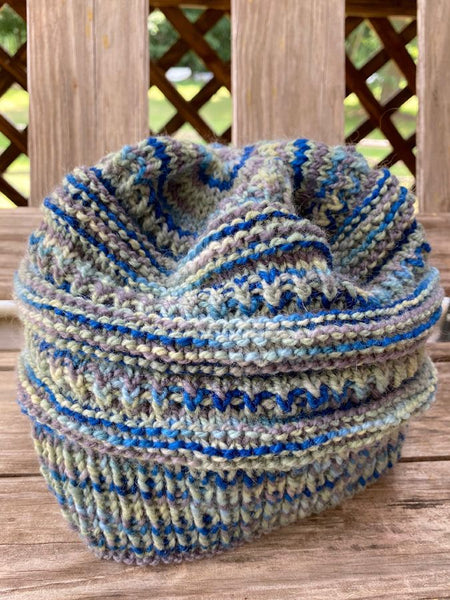 "Hand Knit ""My Blue Mountain"" Hat"