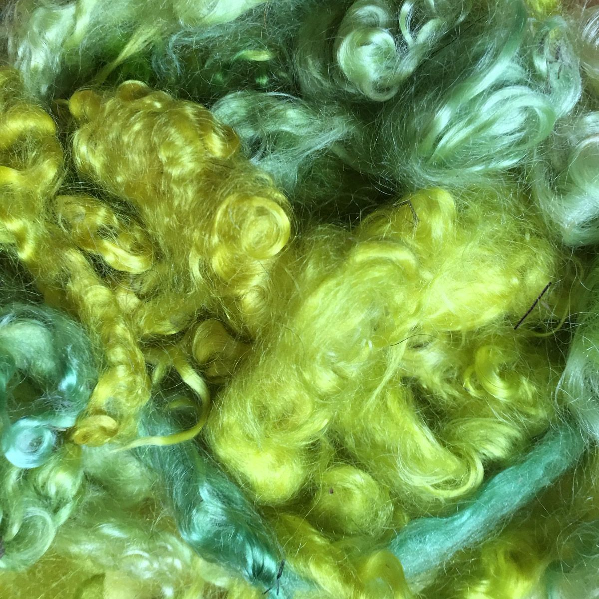 Spring Green Mohair Locks