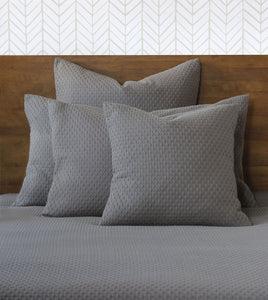 Dove Geometric Rustic 100% Cotton Coverlet With Squared Corners