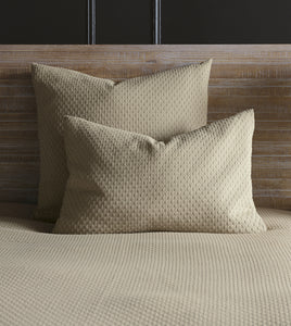 Sand Geometric Rustic 100% Cotton Coverlet With Squared Corners