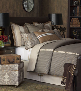 Aiden Rustic Cord King Sham in Neutral
