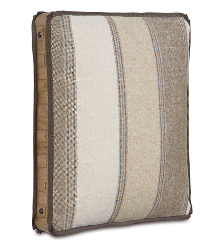 Aiden Stripe Rustic Accent Pillow in Neutral 18''×18''×2''