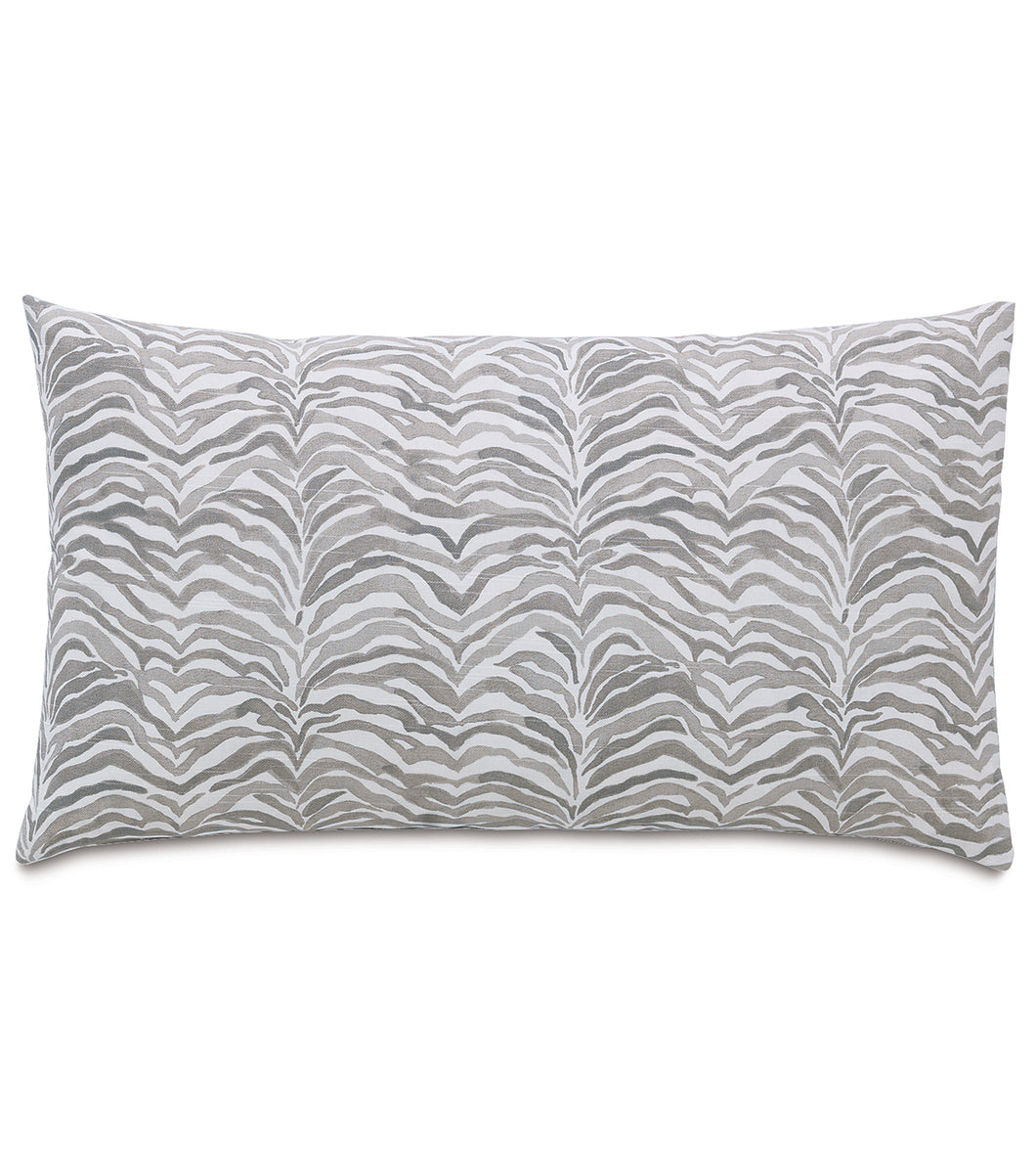 Amara Warm Gray Log Cabin Abstract Cotton Lumbar Pillow Knife Edge 15