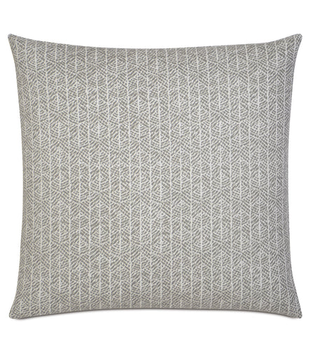 Arya Light Gray Rustic Cabin Tribal Throw Pillow Knife Edge 20