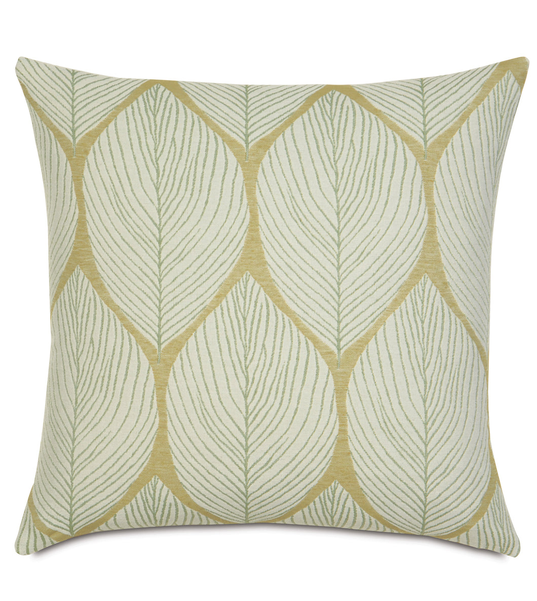 Yellow Green Mountain Lodge Mid Century Jacquard Throw Pillow Knife Edge 20