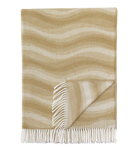 Tan Geometric Rustic Throw with Fringe