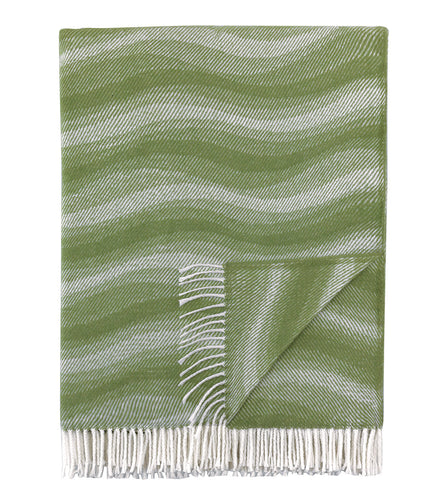Sage Geometric Rustic Throw with Fringe