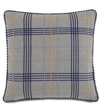 "Arthur Gray Lodge Plaid Cord Textured Throw Pillow 22""x22"""