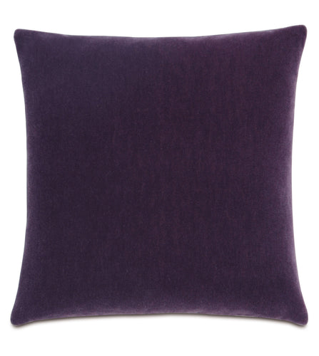 Boysenberry Mohair Throw Pillow Knife Edge