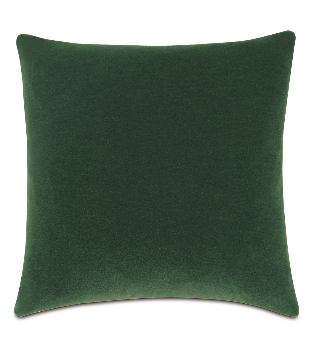 Emerald Mohair Throw Pillow Knife Edge